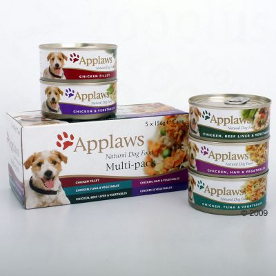 Applaws Hundefutter Multi-Pack 5 x 156 g - 5 x 156 g Huhnvariationen
