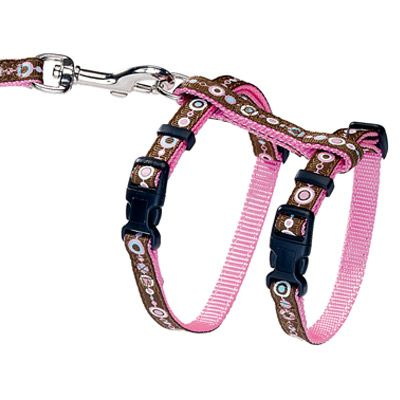 Hunter Puppy & Kitten Harness + Lead - Pink Signs - Harness & Lead
