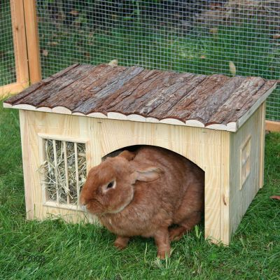 Maisonnette Nature Plus avec mangeoire pour rongeur - L 54 x l 41 x H 30 cm
