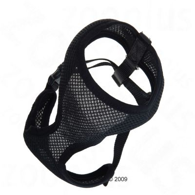 Soft Dog Harness black - L: 43 - 59 cm waist circumference