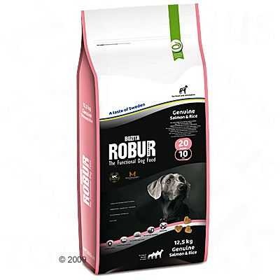 Bozita Robur Genuine Salmon & Rice 20/10 - Economy Pack: 2 x 12.5kg