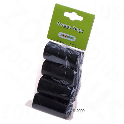 Dog Poop Bag  -  Black biodegradable - 4 rolls (12 bags per roll)