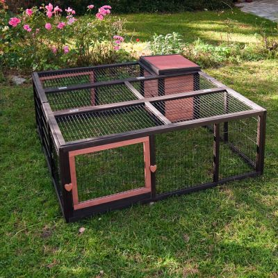 Outback Outdoor Run Grande & House - 4 Sided - 160 x 160 x 55 cm (L x W x H) (price includes bulk shipping fee)