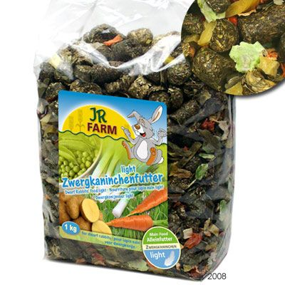 JR Farm Dwarf Rabbit Food Light - Economy Pack: 3 x 2.5 kg