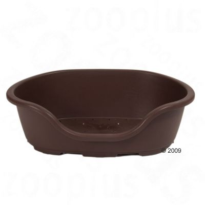 Plastic Dog Bed Lindo Dark Brown - Size 3: 74 x 52 x 27 cm (L x W x H)