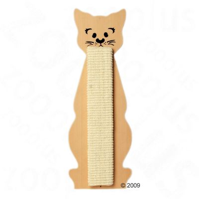 Cat Shaped Scratching Post - Beige