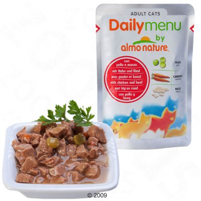 Almo Nature Daily Menu 6 x 70 g - Huhn & Rind
