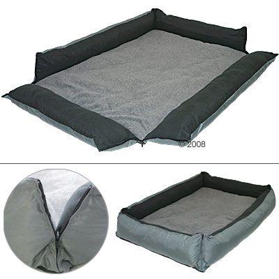 Dog Bed Outdoor Grey - 110 x 80 cm (L x W)