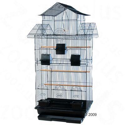 Amilo Cockatiel & Large Parakeet Cage  - Black: 47 x 54 x 98 cm (L x W x H)