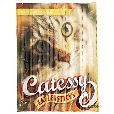 Bâtonnets pour chat Catessy au lapin, dinde & levure- 15 bâtonnets