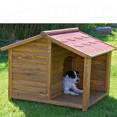 Dog Kennel Trixie Natura Log Cabin with Porch - Size M 100 x 82 x 90 cm (LxWxH)