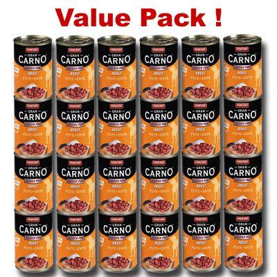 Animonda GranCarno  24 x 400 g Value Pack - Senior Chicken & Turkey