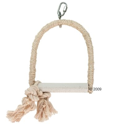 Sisal Swing with Lime Perch - 14 x 2 x 18 cm (LxWxH), perch: Ø 2.5 cm