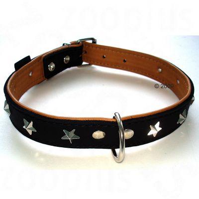 Heim Leather Collar Stars - Size 40: 30 - 37 cm neck circumference