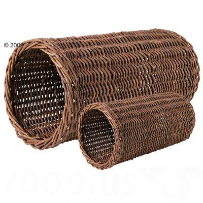 Tunnel en osier naturel pour rongeur - L 25 x l 10 cm