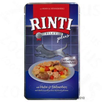 Value Pack Rinti Filet Plus in Gravy 18 x 150 g - Chicken & Chicken Heart