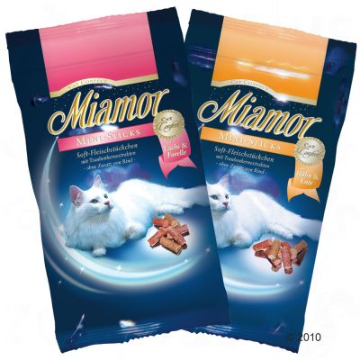 Miamor Cat Confect Mini-Sticks - Saver Pack: 3 x Salmon & Trout, 50 g