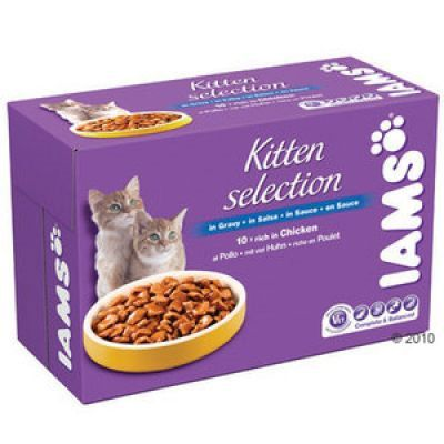 Iams Selection Pouches 10 x 100 g - Mature & Senior  Selection Chicken in Gravy