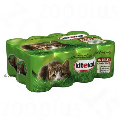 Kitekat Can Jelly Saver Pack 12 x 400g - 4 Varieties