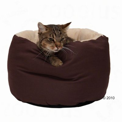 Pet Bed Cosy Snuggly - 40 x 25 cm (W x H), brown