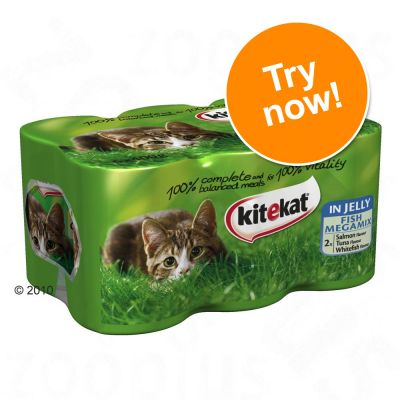Kitekat in Jelly Mixed Trial Pack 6 x 400g - 3 Varieties of Fish in Jelly