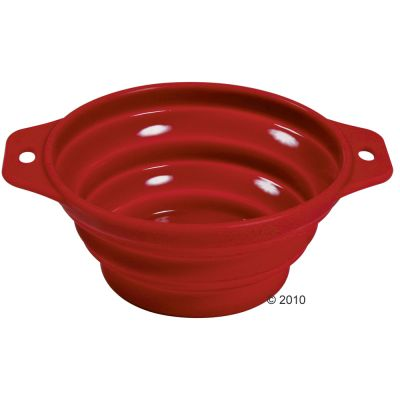 Trixie Silicone Travel Bowl - 0.5 l / ø 14 cm red