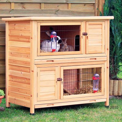 Trixie Natura Rabbit Hutch Double Storey - 116 x 65 x 111 cm (L x W x H) (price