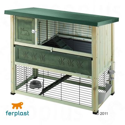 Ferplast Ranch 120 plus Rabbit Hutch - 117 x 69 x 101 cm (L x W x H)