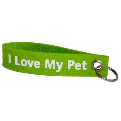 "Felt Key Ring ""I Love My Pet� - made from felt"