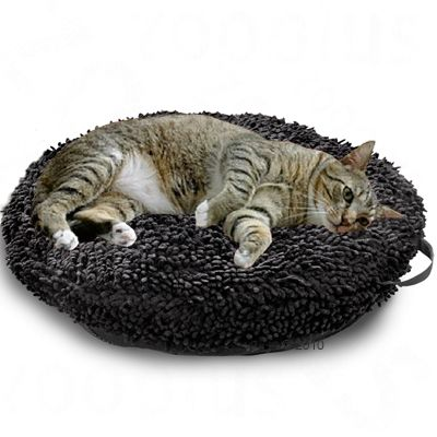 Cat Cushion Catmaxx Black - 55 x 55 cm (L x W)