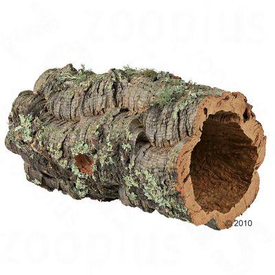 Tunnel en liege pour lapin nain, rongeur et reptile - 14-19 cm de diametre (taille L)