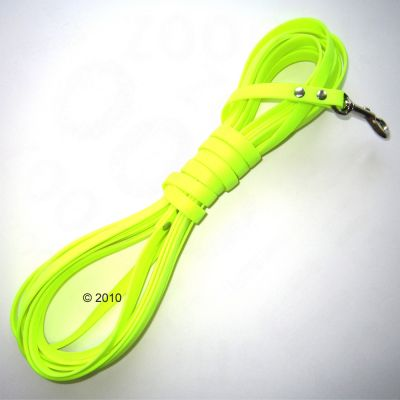 Heim Biothane Long Lead - neon yellow - 10 m long, 13 mm wide