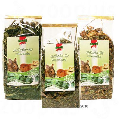 Complément alimentaire pour rongeur et lapin aux 3 plantes- 1 lot de 3 plantes mélangées (trèfle des prés, ortie et pissenlit)