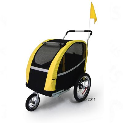 Bike Trailer for Dogs Racing Bee + Jogging Option - 135 x 65 x 98 cm (L x W x H)
