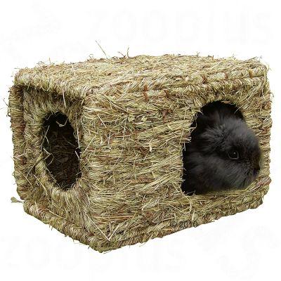 Maison en herbe sechee XL pour rongeur et lapin - L 37 x l 30 x H 28 cm