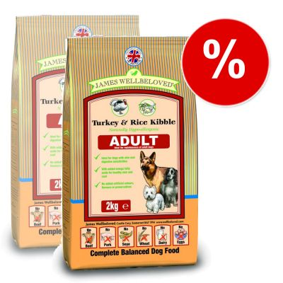 James Wellbeloved Adult Complete Turkey & Rice - Economy Pack: 2 x 15 kg