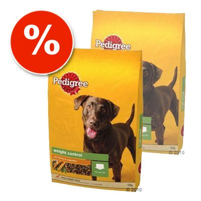 Pedigree Economy Packs: Light & Senior - 2 x 13 kg Pedigree Light