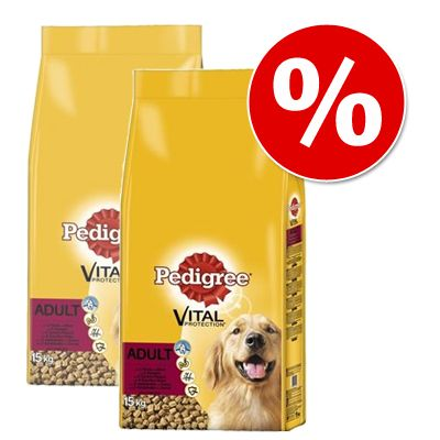 Pedigree Vital Protection Economy Packs: Adult Varieties - Adult Meat Medley (2 x 15kg)