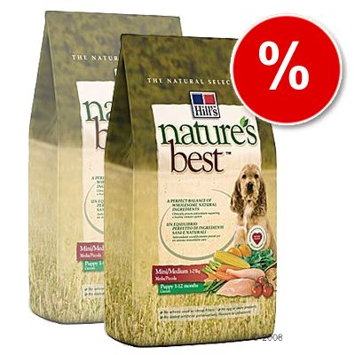Hill's Nature's Best Canine Puppy Mini / Medium - Economy Pack: 2 x 12 kg