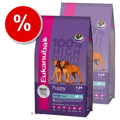 Eukanuba Puppy & Junior Large Breed - Economy Pack: 2 x 15 kg