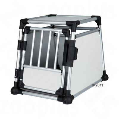 Cage de transport pour chien en aluminium Trixie- L 55