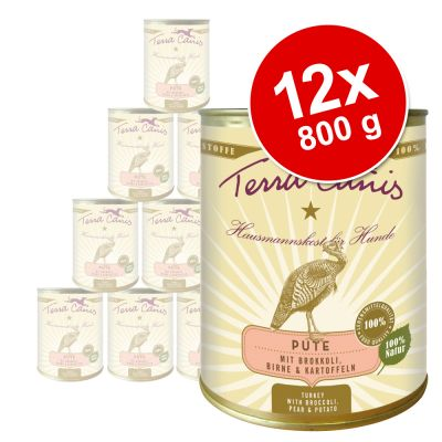 Terra Canis Saver Pack 12 x 800g - Turkey with Broccoli, Pear & Potato