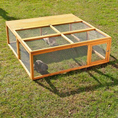 Enclos Outback Springtime grand modele pour rongeur et lapin - enclos avec protection : L 150 x l 150 x H 50 cm