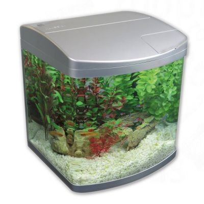 Acuario Classica AquaCurve 30 litros - - Frente recta, plata, medidas: 36 x 34 x 39 cm