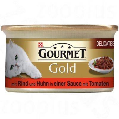 Gourmet Gold Délicatesse en sauce 12 x 85 g- lapin & foie sauce béchamel