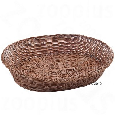 Wicker Dog Basket - approx. 90 x 70 x 23 cm (L x W x H)