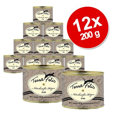 Terra Faelis Meat Menus Savings Pack 12 x 200 g - Rabbit, Broccoli & Catnip
