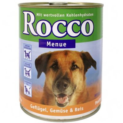 Rocco Menu 6 x 800 g - Beef, Poultry, Vegetables & Rice