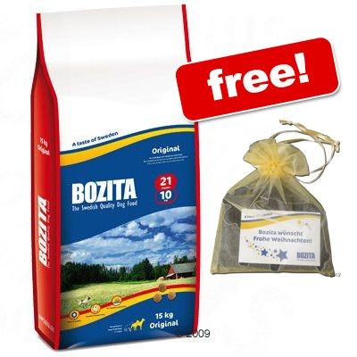 Large Bags Bozita Dry Dog Food + Cookie Cutters Free! - Original 21/10 (15kg)