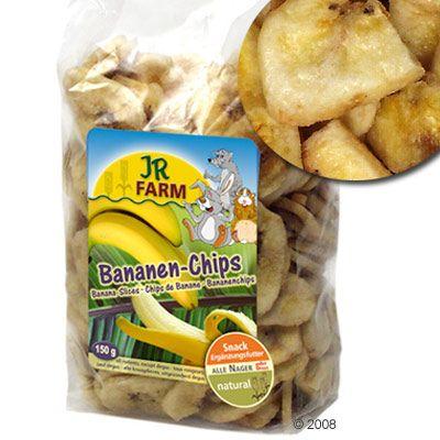 JR Farm Chips de banane pour rongeur, lapin et perroquet - 3 x 150 g